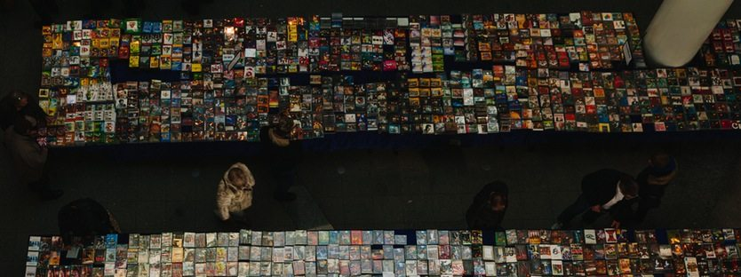 Bookstore, birds-eye view