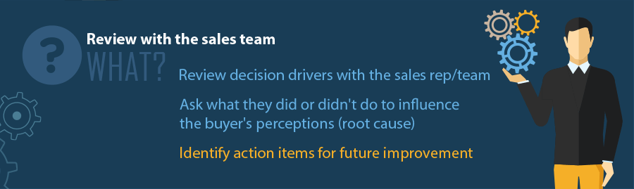 Review Win Loss Analysis  results with the sales team